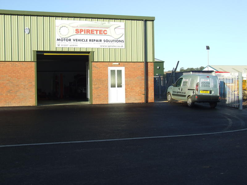 Outside the Spiretec workshop